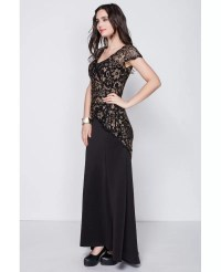 Mature Unique Elegant Black Long Lace Dress #CK352 $78.2 ...