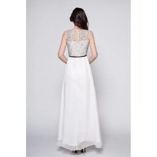 Medium Crop Of Long White Dress