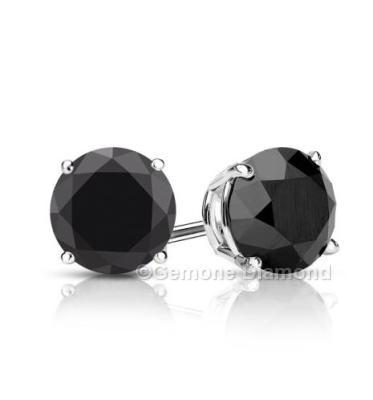 Black Diamond Studded Earrings For Men's