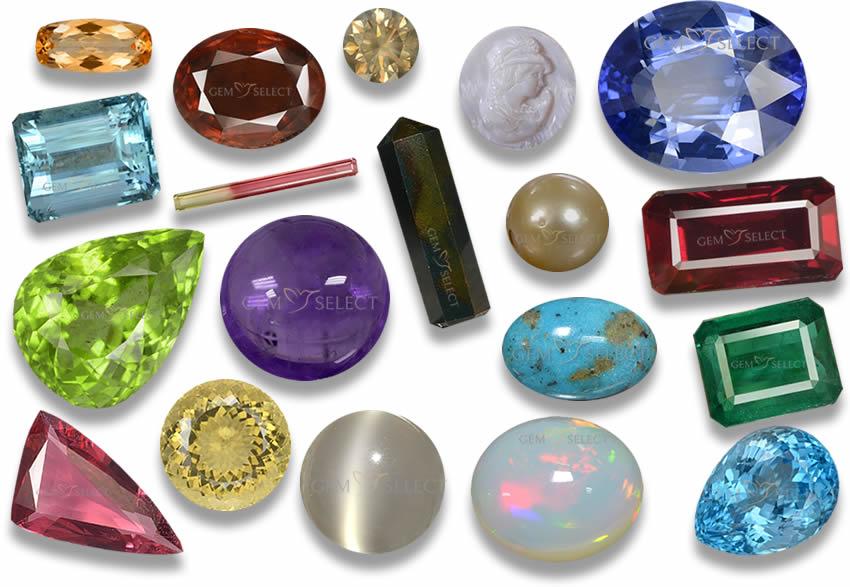 Birthstones by Month, Zodiac,  Anniversary Gemstones Info