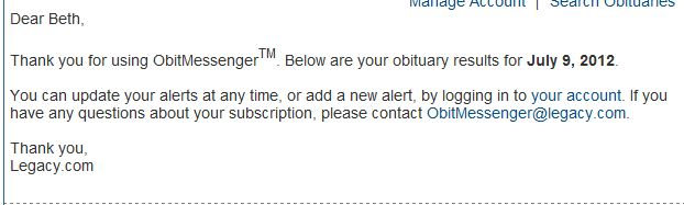 Obits Messenger