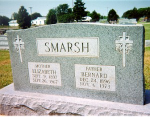 Ben and Elizabeth (Mannebach) Smarsh Headstone