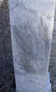 Jonas Greenwood Headstone