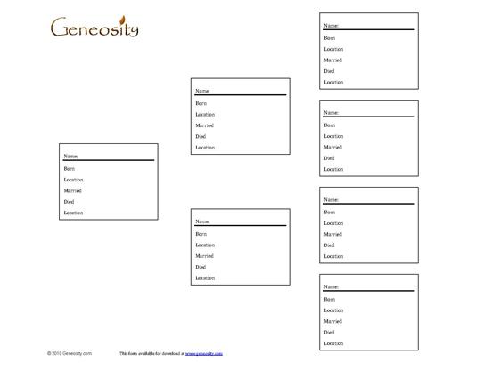 Family Tree Form - Three Generations - Access PDF Form