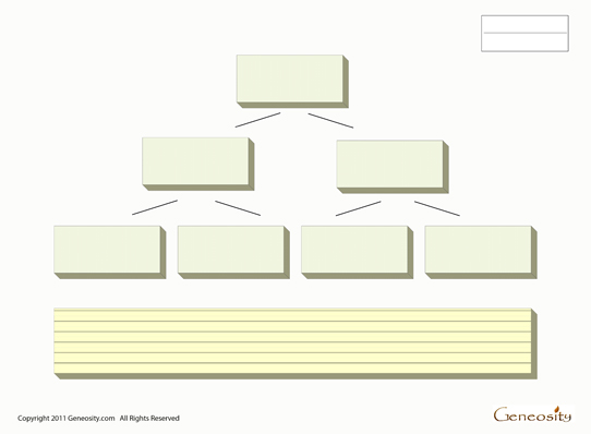 Blank Family Tree Form - Fillable PDF Form