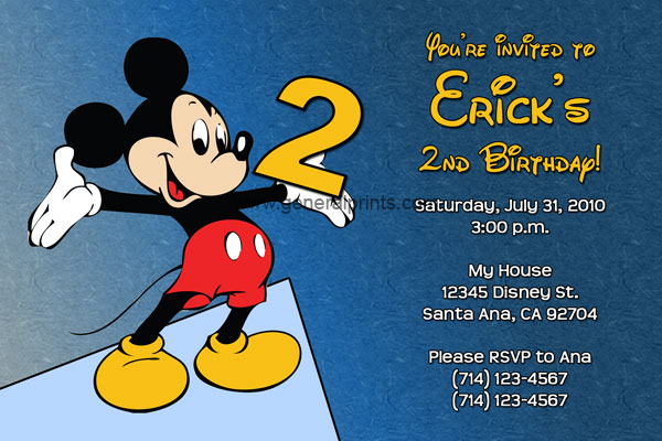 Mickey Mouse Birthday Party Invitations - unique mickey mouse invitations