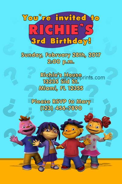 kids birthday card invitations