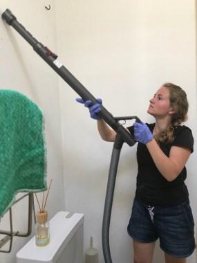 Für saubere Wänder! – Bild: Annina Reusser
