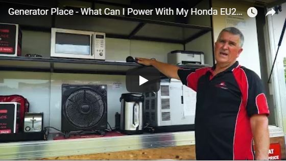 Demonstration What Can I Power with a Honda EU22i Generator Place