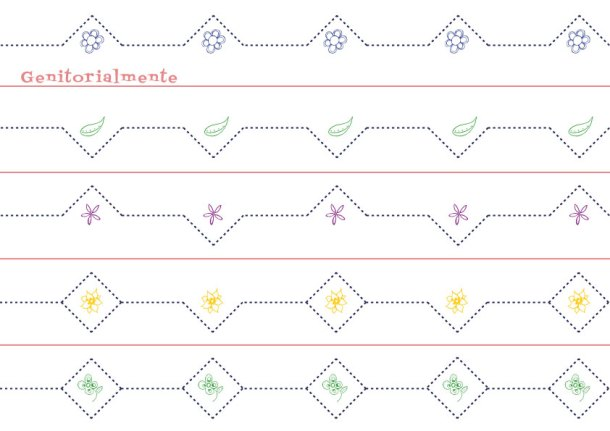 Schede linee, curve e cornicette: Pregrafismo e Prescrittura