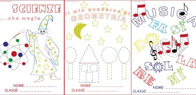 Copertine per quaderni da colorare: scienze, geometria, musica | Genitorialmente