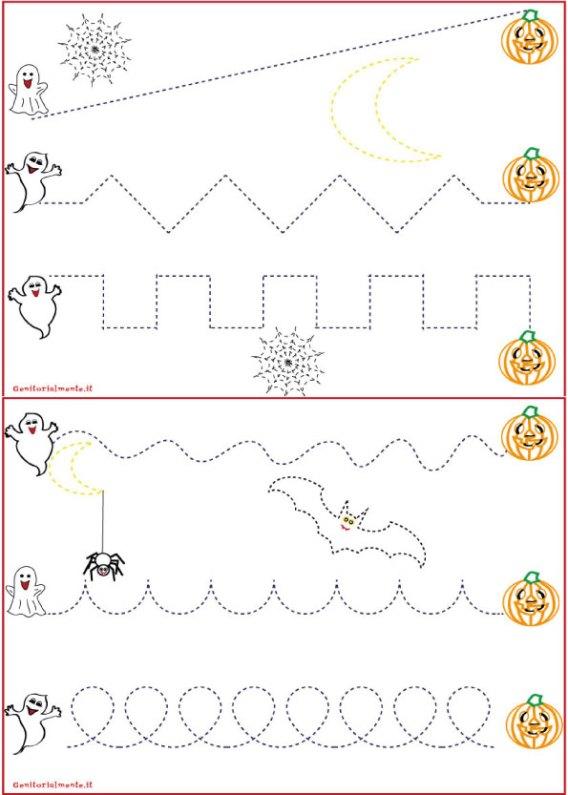 Schede pregrafismo percorsi: linee rette e curve   genitorialmente