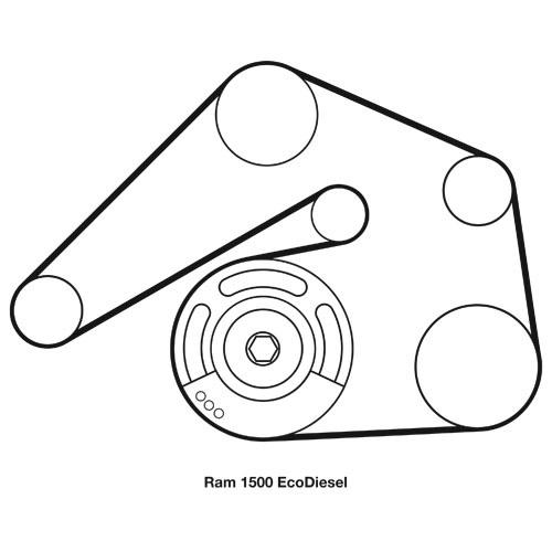 14-\u002718 Ram 1500 EcoDiesel MOPAR Serpentine Belt