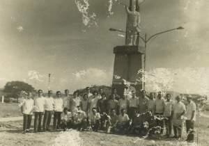 Aguman Capampangan members in front of Gen. Santos Statue