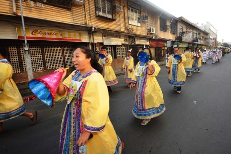 Davaoenos liven up the festival with colorful Torotot-inspired costumes