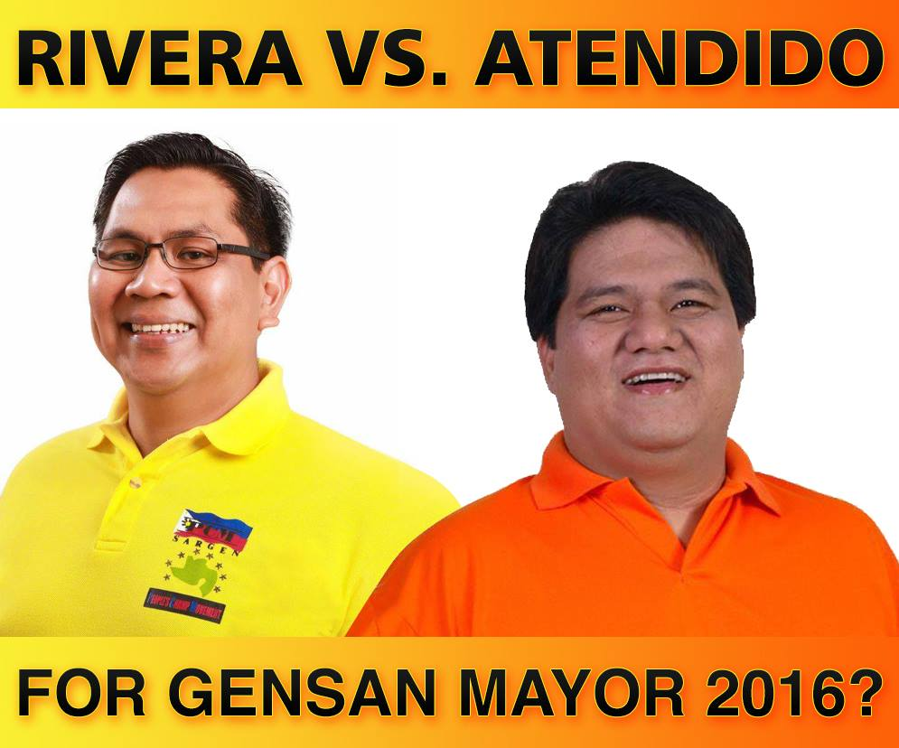 Rivera vs. Atendido for Gensan City Mayor in 2016?