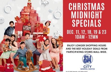 Longer Shopping Hours at SM City Gen. Santos' Christmas Midnight Specials
