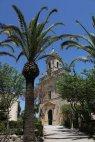 Palme e chiesa san giacomo giardini ragusa