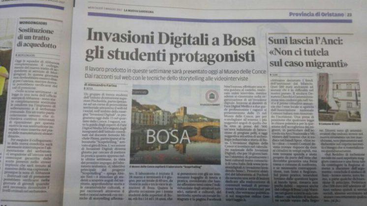 invasioni digitali bosa giornle