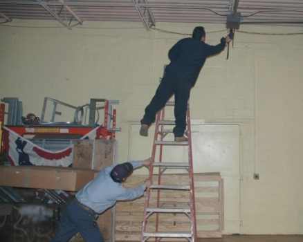 Scaffolding Or Ladder Fall Protection Work Platform