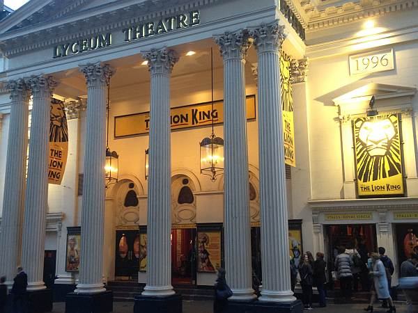 the lion king lyceum theatre london uk