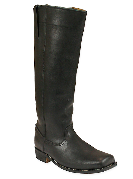 Mens Riding Long Boot Black Leather