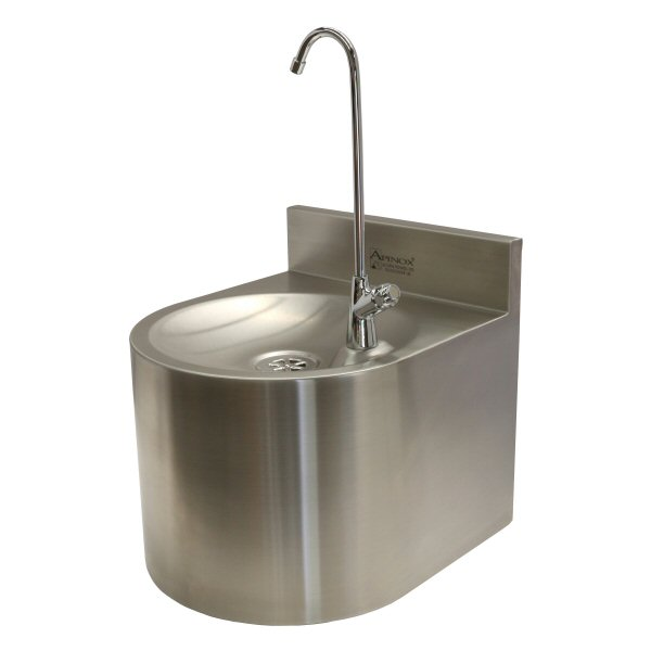 Undershroud Wall Mounted Drinking Fountain with Swan Neck