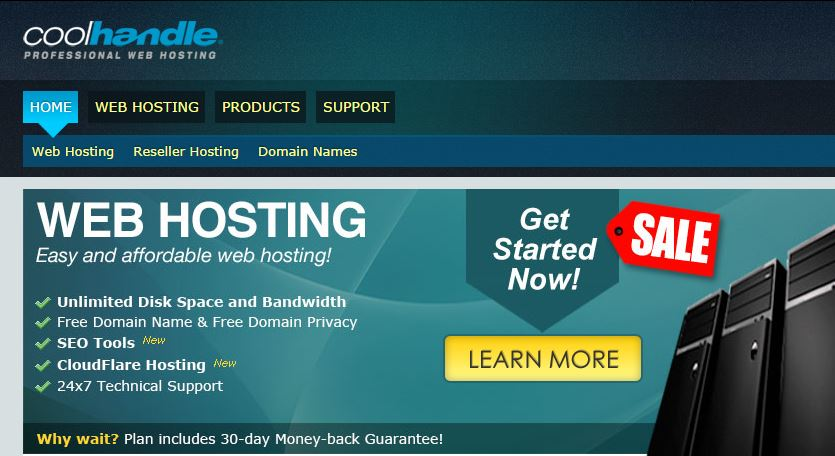 CoolHandle hosting review