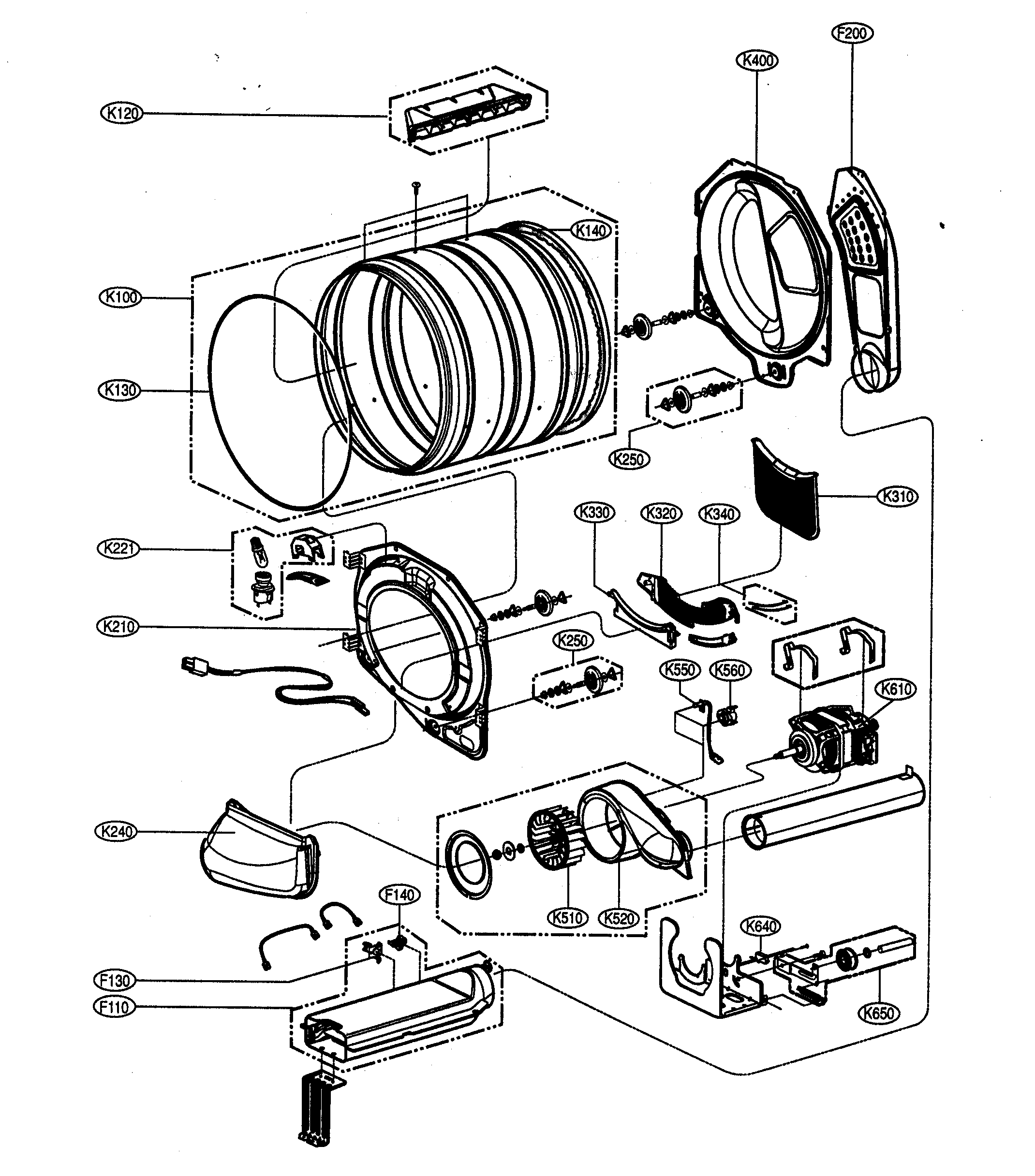 lg dryer diagram