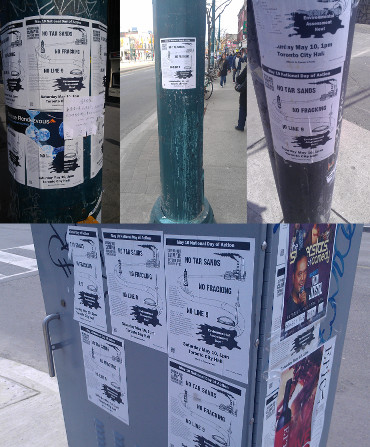 LeadNow.ca's posters are plastered across the city