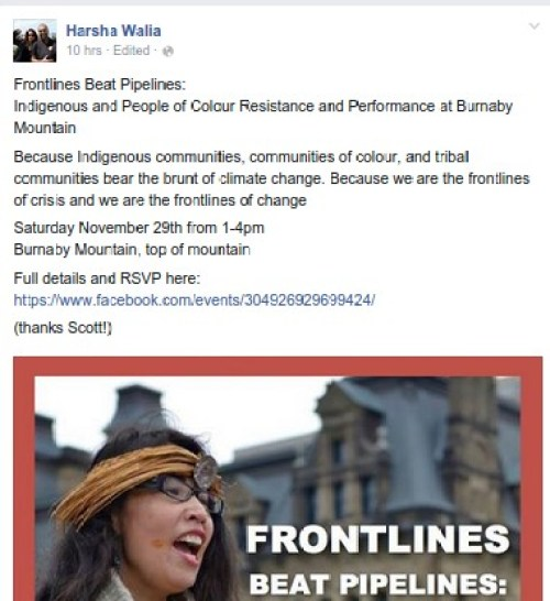The Musqueam denied Audrey Siegl was representing them at Oppenheimer...