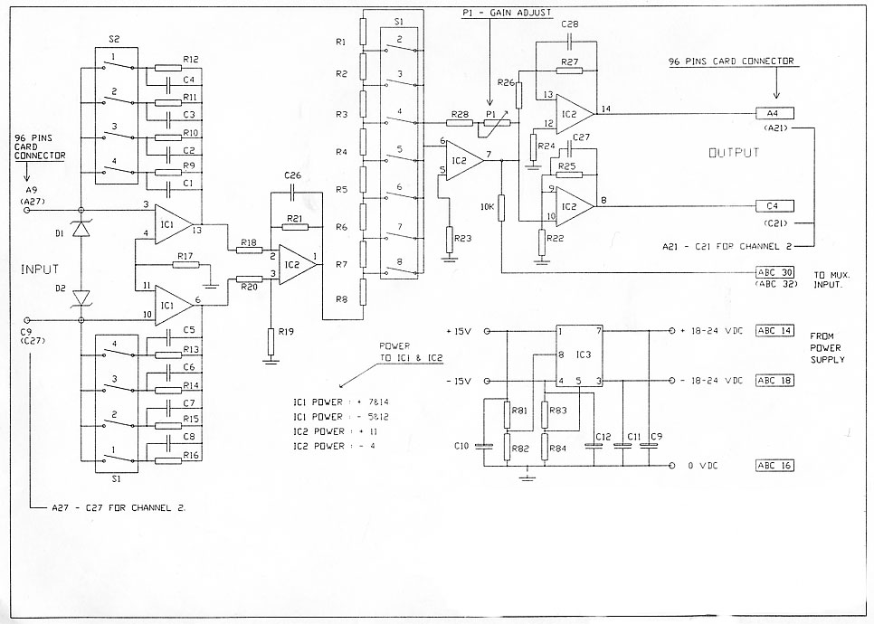 amp schematic diagram