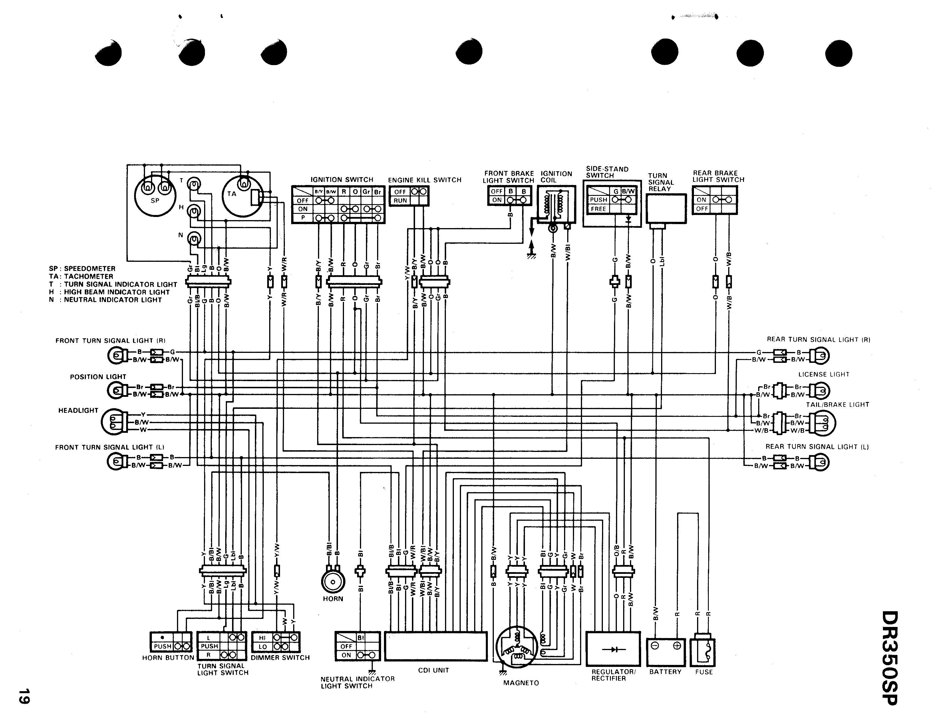 suzuki dr200 wiring diagram