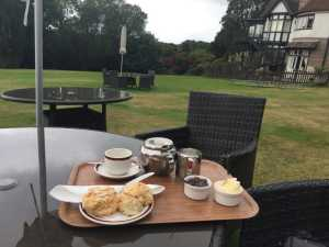 A very welcome cream tea