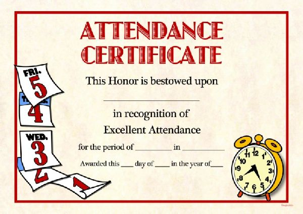 Free template for perfect attendance certificate image collections certificate template of attendance gallery certificate design attendance certificate template free env 1198748 resumeoud perfect attendance yadclub Choice Image