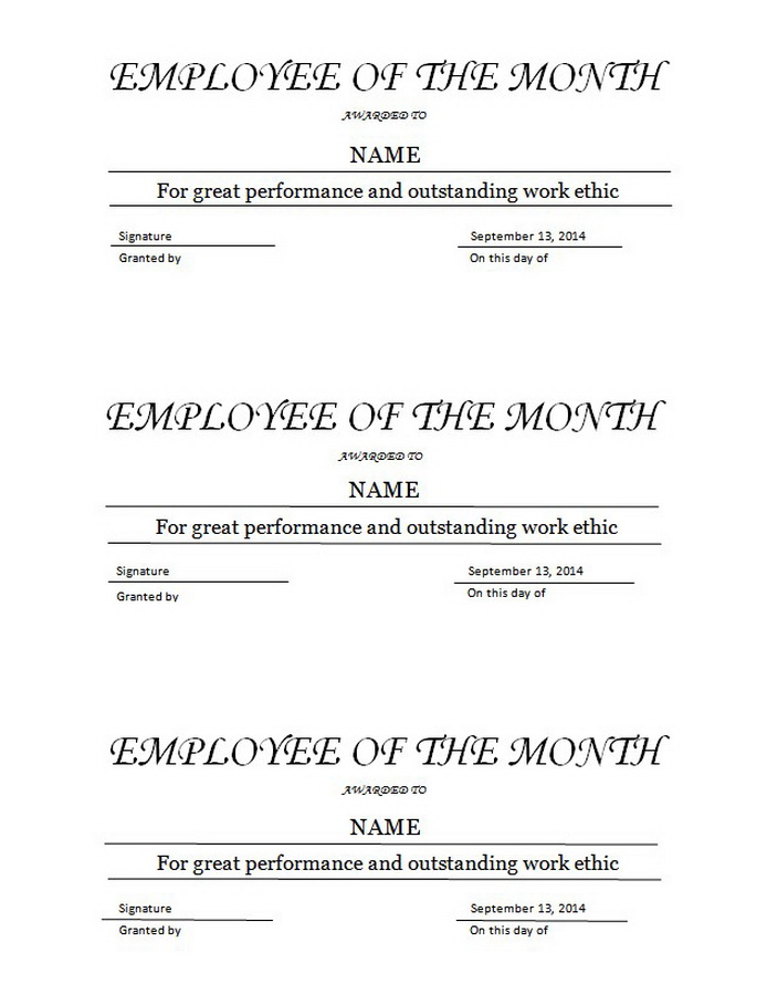 Geographics Certificates Free Word Templates Clip Art  Wording - free employee of the month certificate template