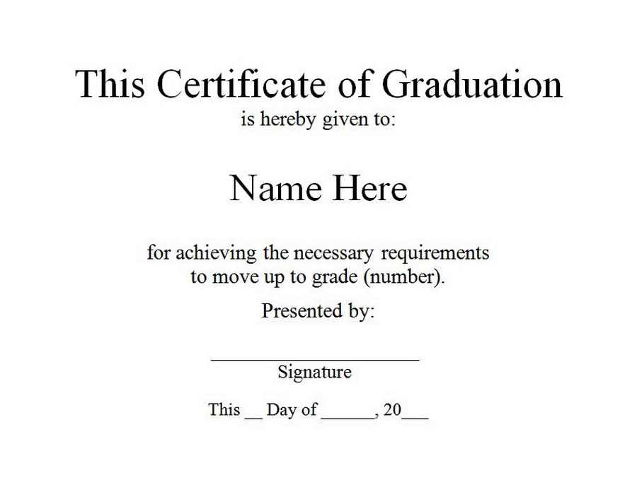 Certificate of Graduation Free Word Templates Customizable Wording - graduation certificate