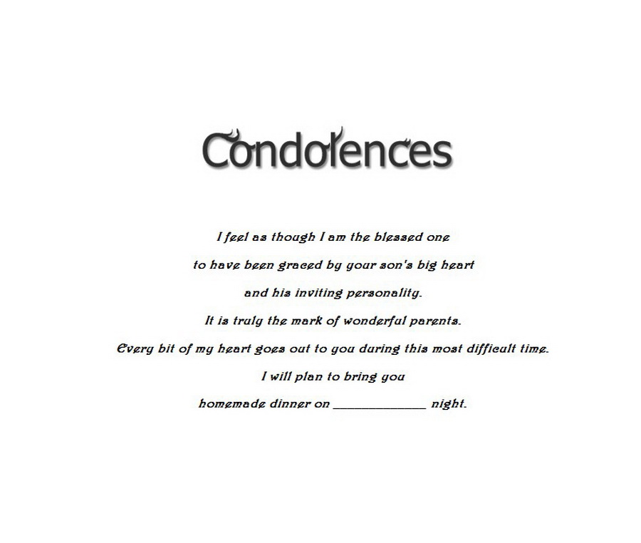 Child Condolences Cards 4 Wording Free Geographics Word Templates