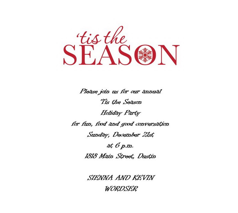 Free Wording by Holiday Geographics Printable Stationery - free template for party invitation