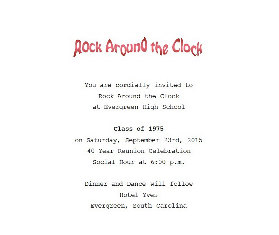 Class Reunion Invitation 1 Wording Free Geographics Word Templates