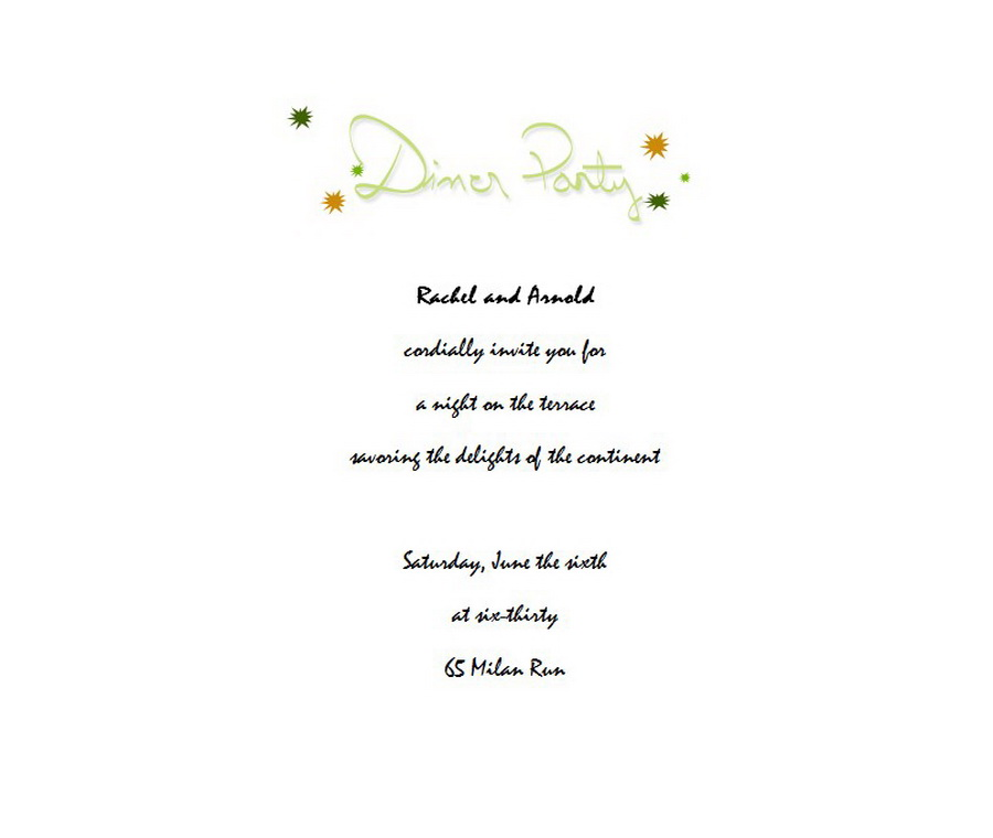 Dinner Party Invitation 3 Wording Free Geographics Word Templates - dinner party invitation templates free
