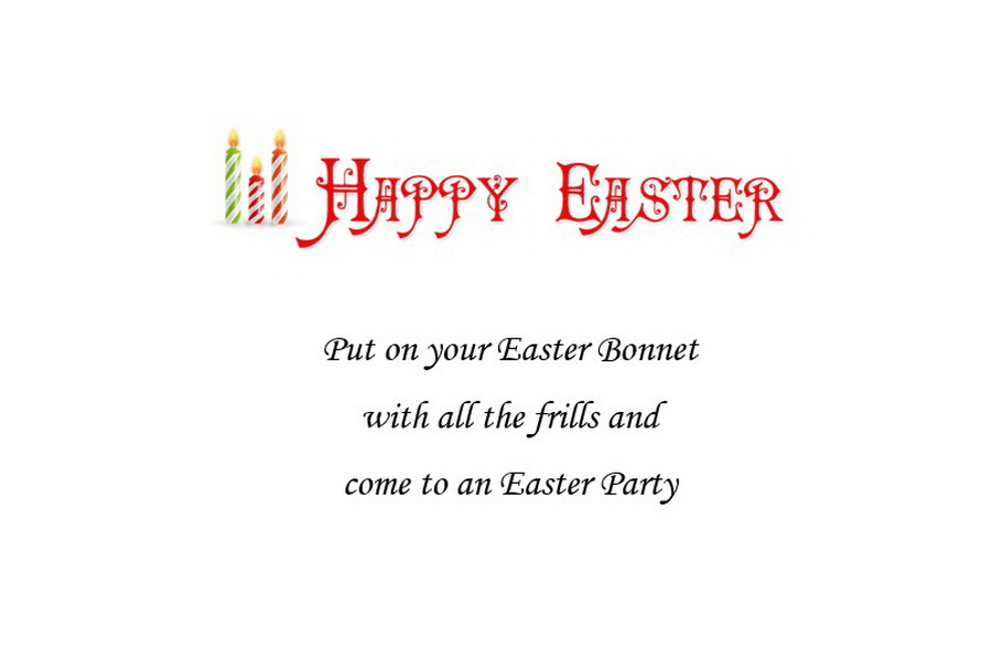 Easter Invitation 5 Wording Free Geographics Word Templates