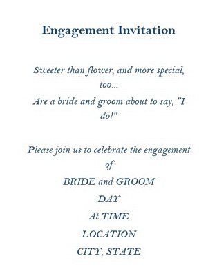 Engagement Invitations Wording Free Geographics Word Templates