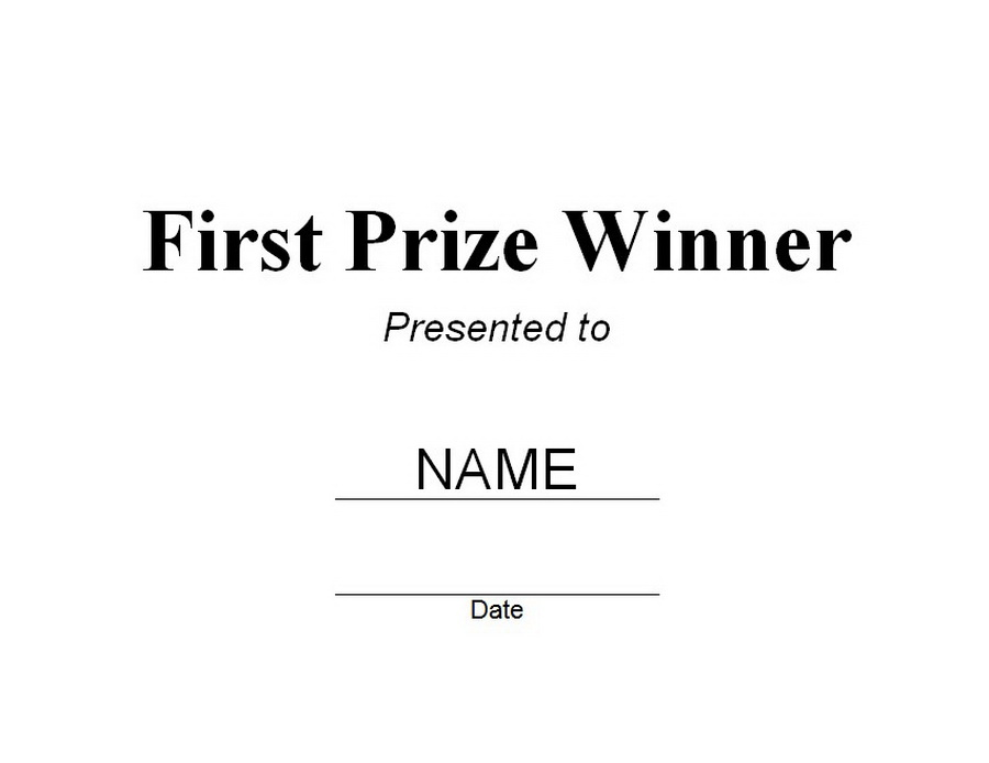 First Prize Winner Certificate Free Word Templates Customizable - prize voucher template