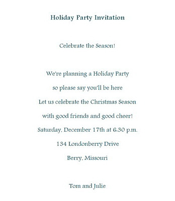 Holiday Party Invitations Wording Free Geographics Word Templates