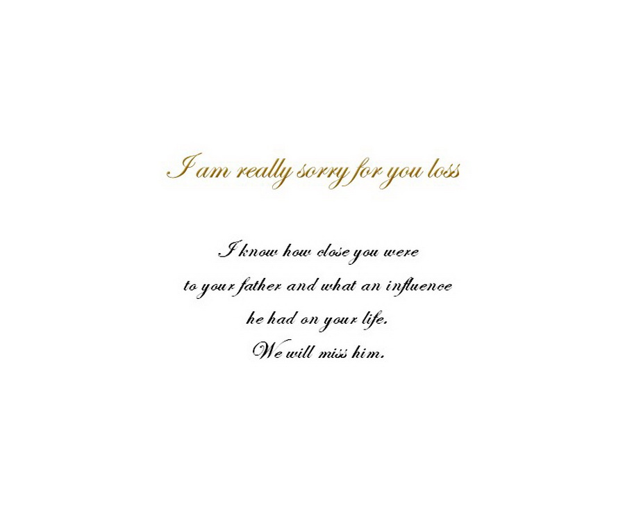 Loss of a Father Sympathy Cards 1 Wording Free Geographics Word