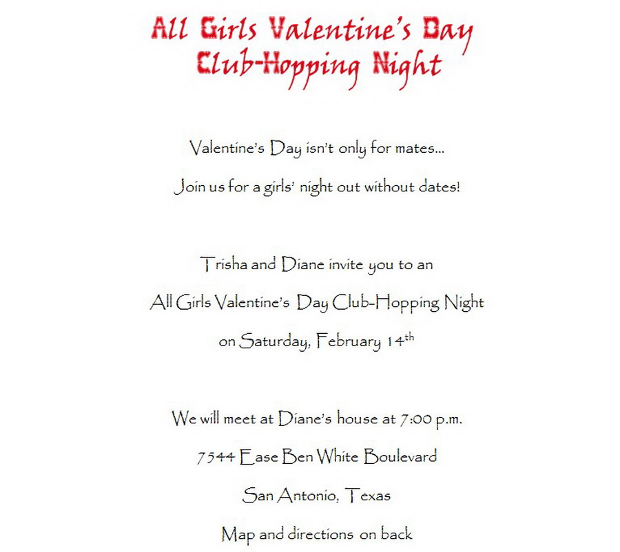 Valentines Day Party Invitations 2 Wording Free Geographics Word - 's day party invitation