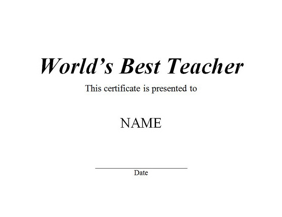 best teacher award template