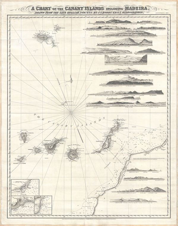 A Chart of the Canary Islands Including Maderia Geographicus Rare