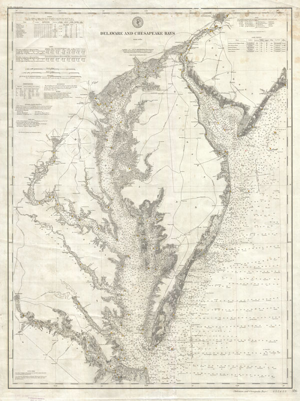 Delaware and Chesapeake Bays Geographicus Rare Antique Maps